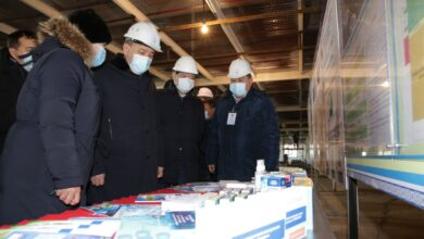 Photo of Е. Тоғжанов COVID-19 қарсы отандық вакцина шығаратын зауыттың салыну барысымен танысты